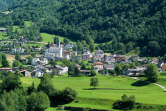 Village of Lottigna on Blenio valley Royalty Free Stock Images