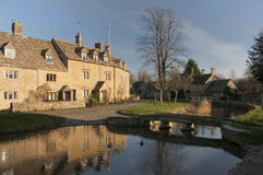 Village of lower Slaughter Royalty Free Stock Photography
