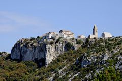 Village Lubenice on islend Cres Royalty Free Stock Image