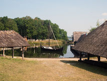 Village médiéval Photo libre de droits