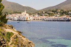 Village médiéval Cadaques sur Costa Brava Catalonia Spain l'Europe photos libres de droits