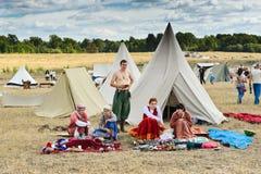 Village médiéval d'artisans Photographie stock libre de droits