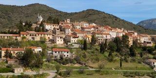 Village médiéval de Cucugnan photos stock