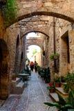 Village médiéval de Spello en Italie Images libres de droits
