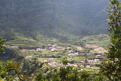 Village madérien et terrassement Images stock
