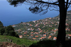 Village in Madeira stock image