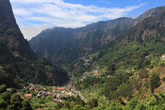 Village on Madeira. Lovely view of the mountains of Madeira Royalty Free Stock Photos