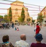 Village main square holiday people celebrations Royalty Free Stock Photo