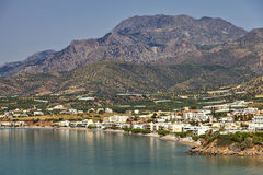 Village of Makrigialos on Crete Royalty Free Stock Photography