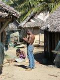 Village malgache Photo stock
