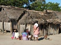 Village malgache lointain Image stock