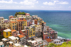 Village of Manarola, on the Cinque Terre Royalty Free Stock Photography