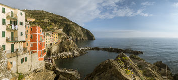 Village of Manarola, on the Cinque Terre coast of Italy Royalty Free Stock Photos
