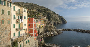 Village of Manarola, on the Cinque Terre coast of Italy. Stock Photos