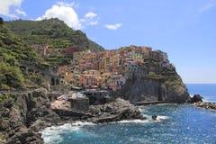 Village of Manarola, at Cinque Terre, Italy Stock Photography