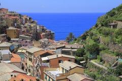 Village of Manarola, at Cinque Terre, Italy Stock Image