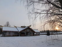 The Village Of Mandrogi, Karelia. Stock Photo