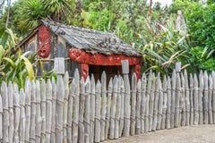 Village maori traditionnel Photos stock