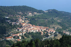 The village of Marciana on Elba island. Italy Royalty Free Stock Images