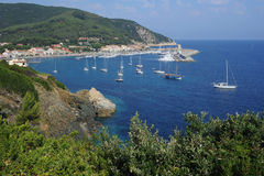 The village of Marciana Marina on Elba island Royalty Free Stock Images