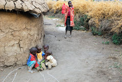 Village of Masai tribe Royalty Free Stock Images