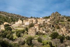 Village of Mausoleo in Balagne region of Corsica Royalty Free Stock Image