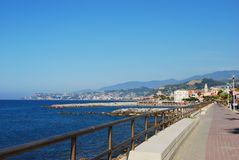 Village on Mediterranean sea Royalty Free Stock Image