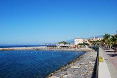 Village on Mediterranean sea Stock Photo