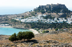 The village of Megali Paralia, on the greek island of Rhodes Royalty Free Stock Image