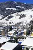 Village of Megeve, French Alps. View from Above on Mountain Village of Megeve, French Alps Stock Images