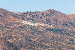 Village Melambes in the mountains in the south of Crete Stock Image