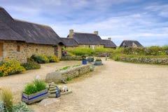 Village Meneham  in Finistere in Brittany Stock Photo