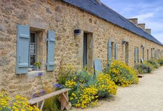 Village Meneham  in Finistere in Brittany. France Royalty Free Stock Photos