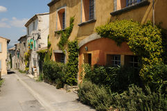 Village of Menerbes in Provence Stock Photography