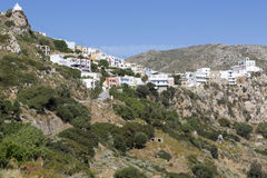 The village Menetes on Karpathos, Greece Royalty Free Stock Photos