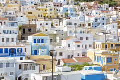The village Menetes on Karpathos, Greece Stock Image