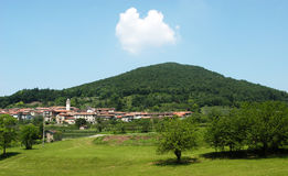 The village of Meride and Mount San Giorgio, UNESCO world heritage Royalty Free Stock Photos