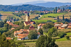 Village of Miholec in Croatia Stock Image