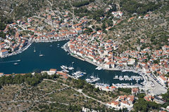 Village Milna on Brac island in Croatia Royalty Free Stock Image