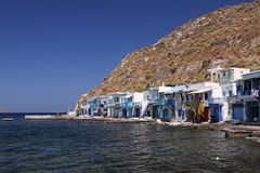 Village in Milos Island Stock Images
