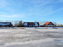 Village Minge in winter , Lithuania Royalty Free Stock Image