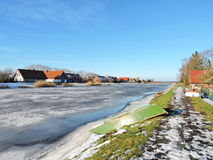 Village Minge in winter , Lithuania Royalty Free Stock Photography