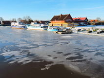 Village Minge in winter , Lithuania Royalty Free Stock Photos