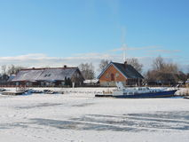 Village Minge in winter , Lithuania Stock Photography
