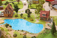 Village miniature Royalty Free Stock Photography