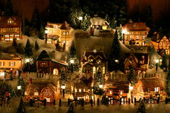 Village miniature de Noël Images stock