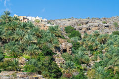 The village Misfat,  Oman Royalty Free Stock Photography
