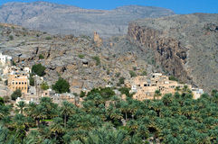 The village Misfat,  Oman Royalty Free Stock Photo