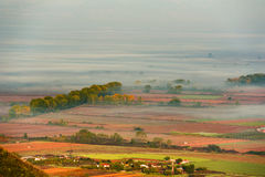 Village in the mist Royalty Free Stock Photos