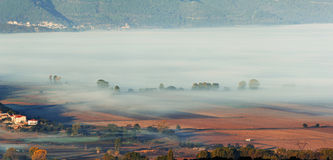 Village in the mist Royalty Free Stock Photography